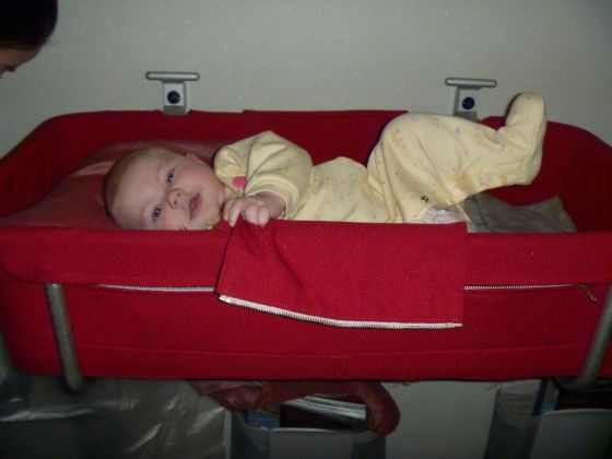 Another reason to book early - reserving the bassinet (if you are on a long international flight)