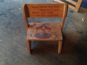 Too cute step-stool and chair!